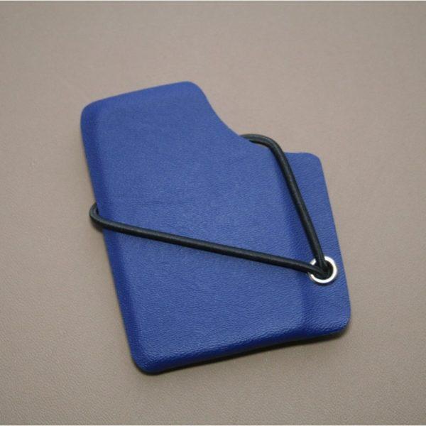 Kydexplånbok mörkblå med silvernit