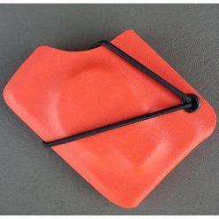 Kydexplånbok Döskalle Orange svart nit