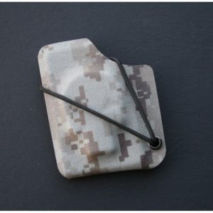 Kydexplånbok Döskalle Desert Digital Camo m svart nit