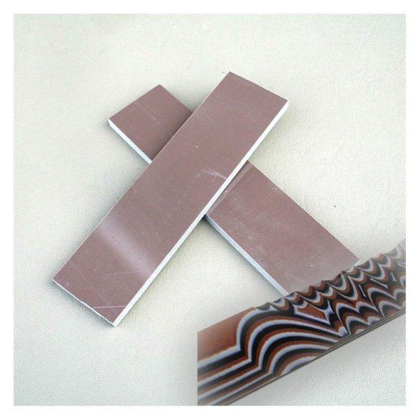 G-10 handtagsmaterial Brun/Vit/Svart