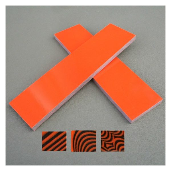 G-10 handtagsmaterial Orange/Svart