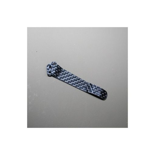 Pocket Clip Kolfiber Blå baksida