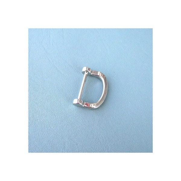 D-ring Nickelfri Silverfärgad 2,5 cm