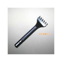 Gaffel Fyrkantig 4 mm 6 tänder