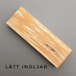 Rötad Al lätt inoljad knivskaft - träkloss