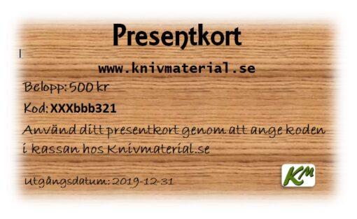 Presentkort till den som gillar knivslöjd, läderslöjd eller träslöjd