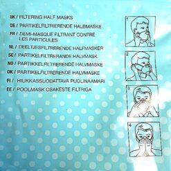 Andningsskydd Halvmask från Cadlight Instruktion
