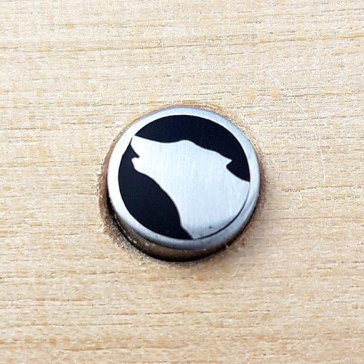 8 mm Mosaikstav Ylande Varg Rostfritt stål