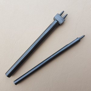 Gaffel rund 1 mm för läderarbete