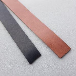 Läderremmar 2 cm bred i färgerna svart och brun