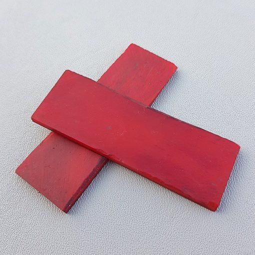 Knivskaft av rött ben