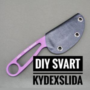 DIY Kydexslida Svart till Esee Izula