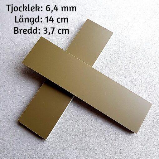 6 mm Olivgrön G-10 Knivskaft i 2-pack