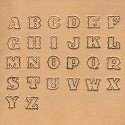 Punsset Alfabet A-Z Resultatet på Läder