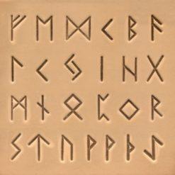 Punsset Alfabetet Runskrift Resultat på Läder