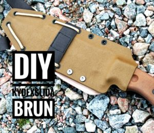 Tillverka en knivslida av brun Kydex