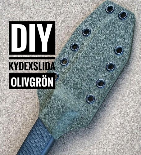 DIY Olivgrön Knivslida av Kydex