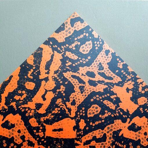 Kydexark med motivet Venomous Orange