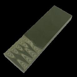 Slipat knivskaft av 6mm G-10 i färgen Olivgrön/beige