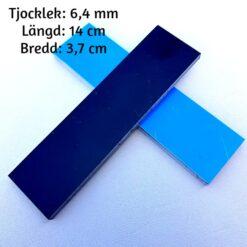 2-pack knivskalor 6 mm G-10 Svart/Blå