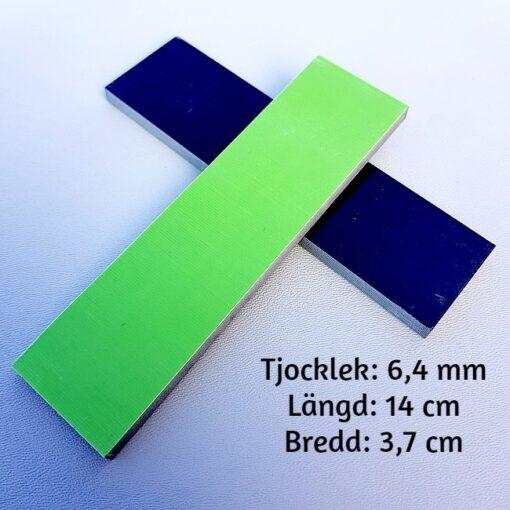 2-pack knivsidor av 6 mm G-10 Svart/Neongrön
