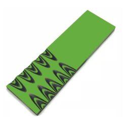 Slipat knivskaft av 6 mm G-10 Svart/Neongrön