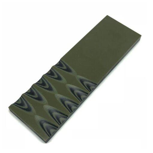 6 mm G-10 Svart/olivgrön - slipat knivskaft