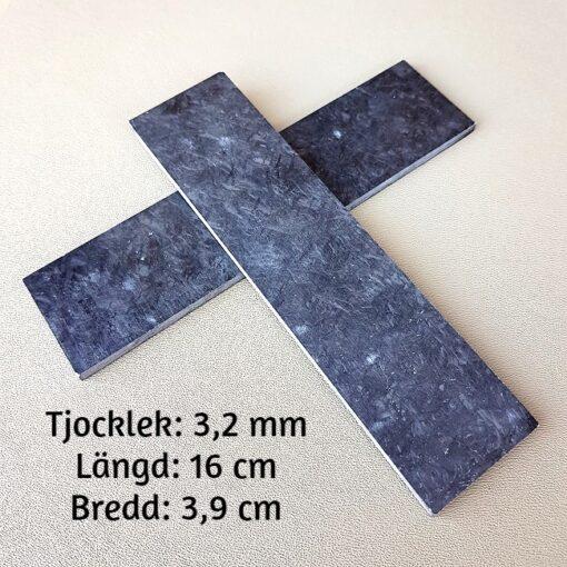3 mm Kolfiber Marmorerad Knivskaft