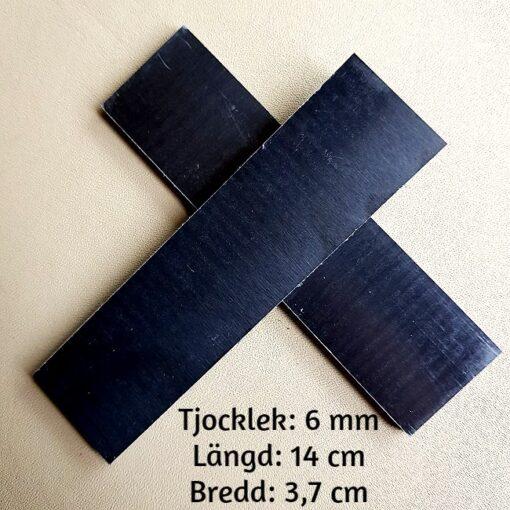 6 mm Micarta Papper Svart Knivskaft